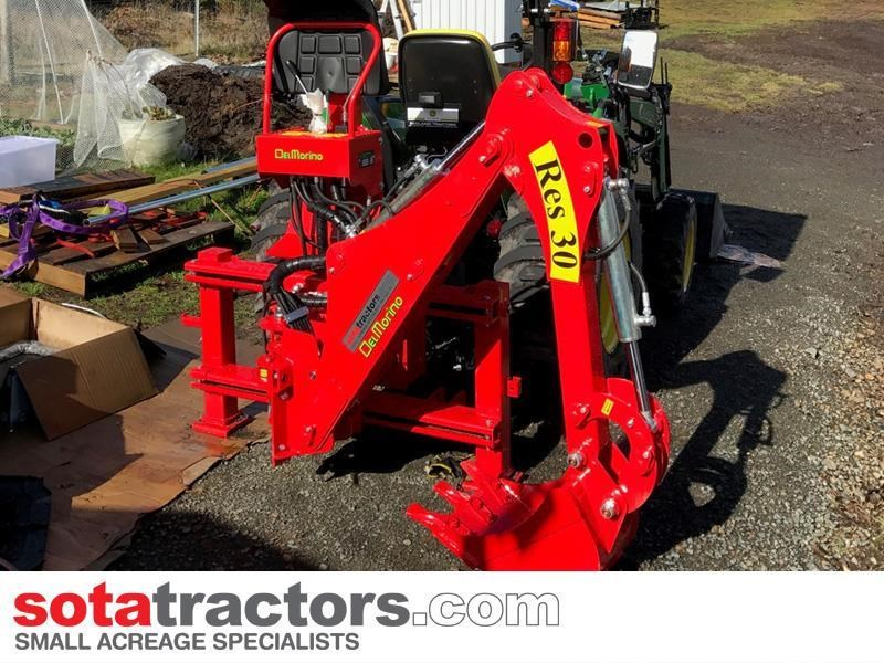 apollo 55hp tractor + 4 in 1 loader + backhoe 646441 023