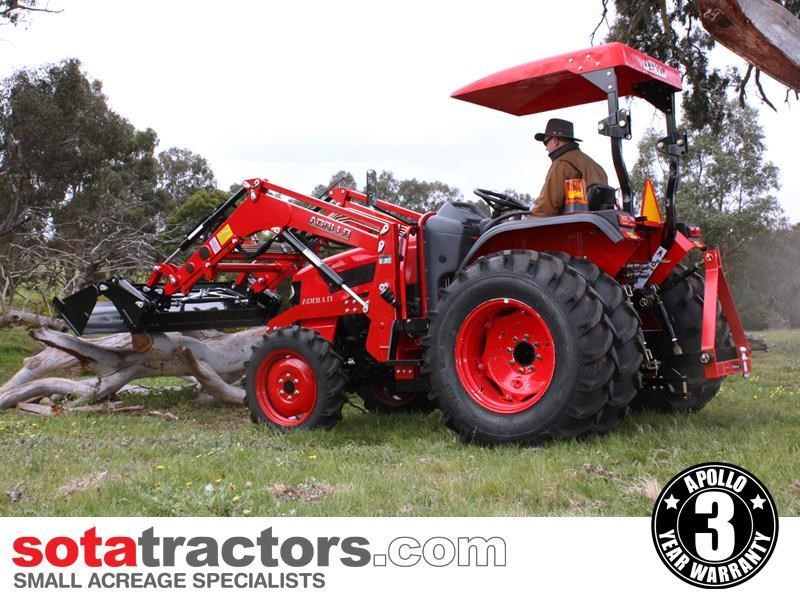 apollo 55hp tractor + 4 in 1 loader + backhoe 646442 011