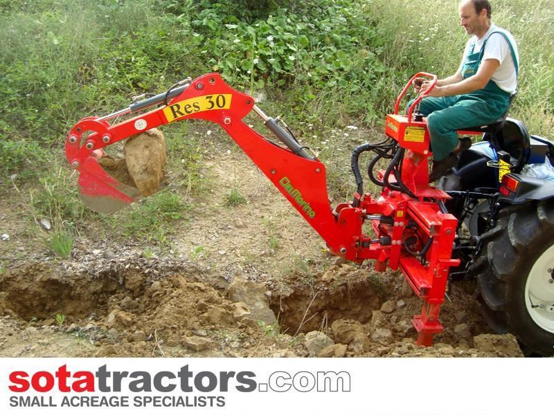 apollo 55hp tractor + 4 in 1 loader + backhoe 646442 019