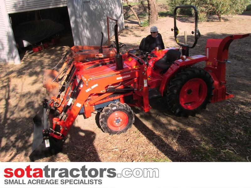 kubota l1-22dt tractor with 4 in 1 fel 26hp 650275 002