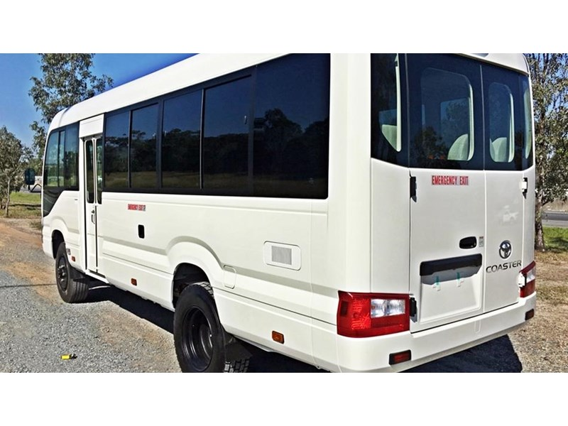 toyota bus 4x4 conversion of 70 series toyota coaster - mine specification 650919 005