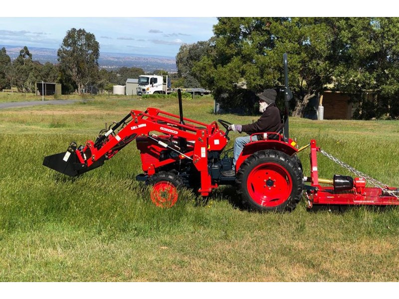 kubota l2201dt tractor with 4 in 1 fel 25hp 55505 012