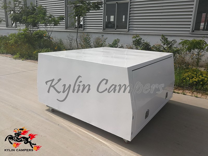 kylin campers dual cab jack off white powder coated alloy canopy, aluminium canopy, ute canopy  no back door - 1800x1800x860mm 511361 001