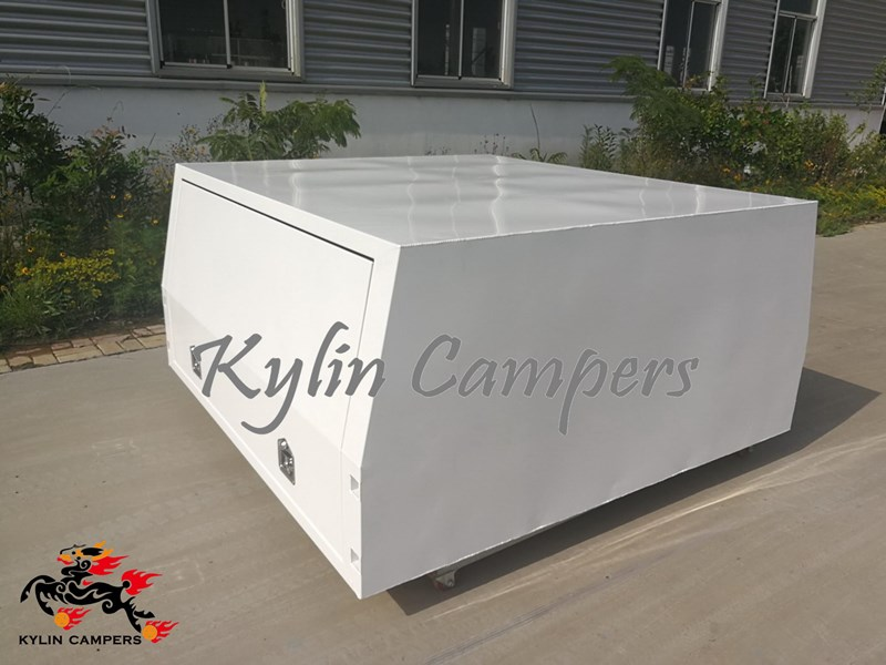 kylin campers dual cab jack off white powder coated alloy canopy, aluminium canopy, ute canopy  no back door - 1800x1800x860mm 511361 002