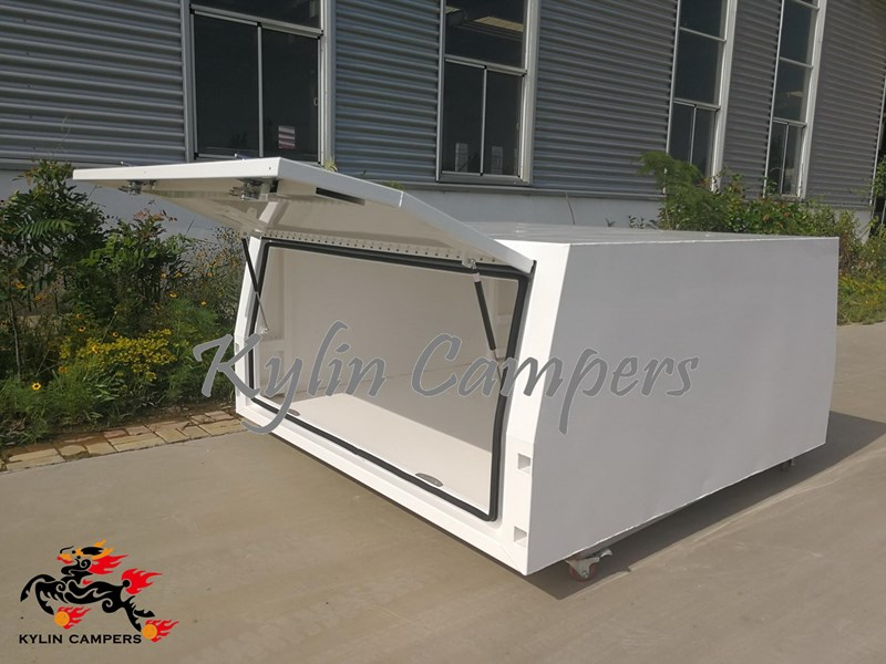 kylin campers dual cab jack off white powder coated alloy canopy, aluminium canopy, ute canopy  no back door - 1800x1800x860mm 511361 004