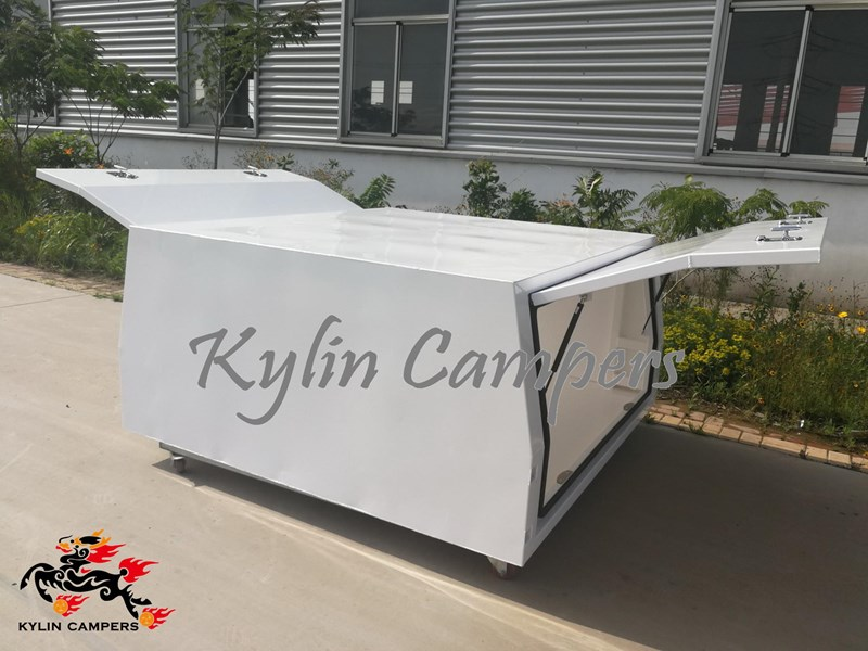 kylin campers dual cab jack off white powder coated alloy canopy, aluminium canopy, ute canopy  no back door - 1800x1800x860mm 511361 006