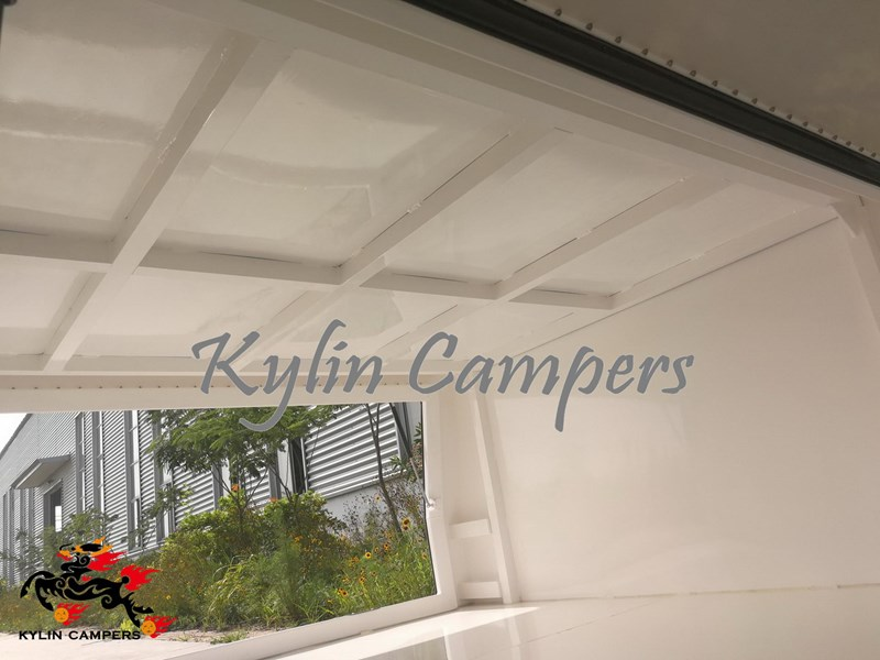 kylin campers dual cab jack off white powder coated alloy canopy, aluminium canopy, ute canopy  no back door - 1800x1800x860mm 511361 008