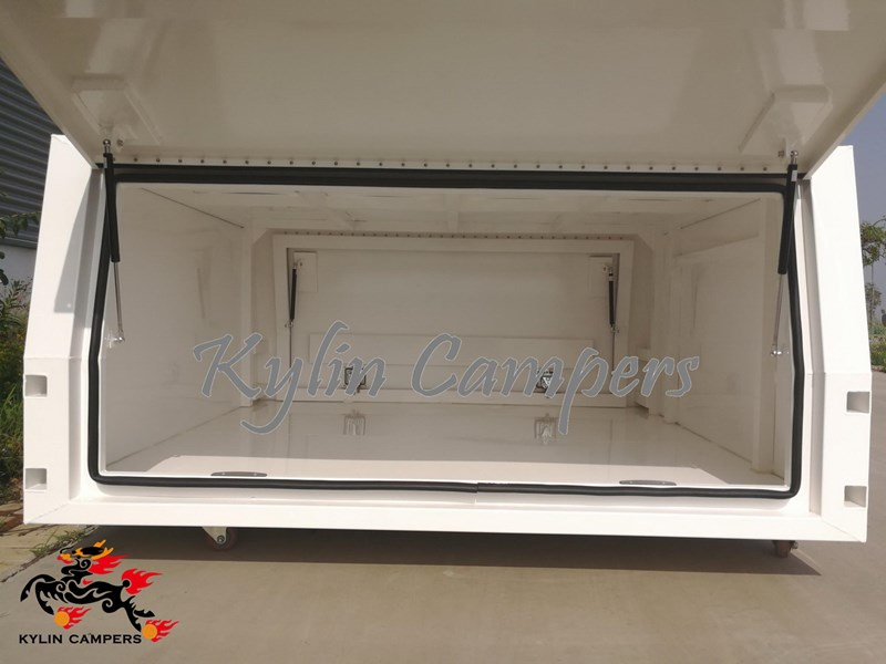 kylin campers dual cab jack off white powder coated alloy canopy, aluminium canopy, ute canopy  no back door - 1800x1800x860mm 511361 010