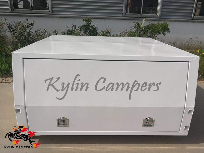 kylin campers dual cab jack off white powder coated alloy canopy, aluminium canopy, ute canopy  no back door - 1800x1800x860mm 511361 011