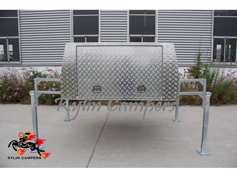 kylin campers dual cab jack off alloy checker plate canopy, aluminium canopy, ute canopy   - 1800x1800x860mm 470122 002