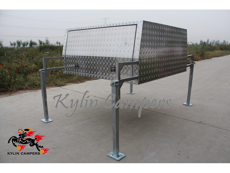 kylin campers dual cab jack off alloy checker plate canopy, aluminium canopy, ute canopy   - 1800x1800x860mm 470122 003
