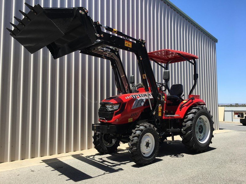 trident brand new 40hp tractor 4wd+fel+slasher shuttle shift 512366 039