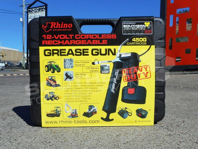 2019 RHINO 12 VOLT Rechargeable Grease Gun - 2018 New Model TFGG6