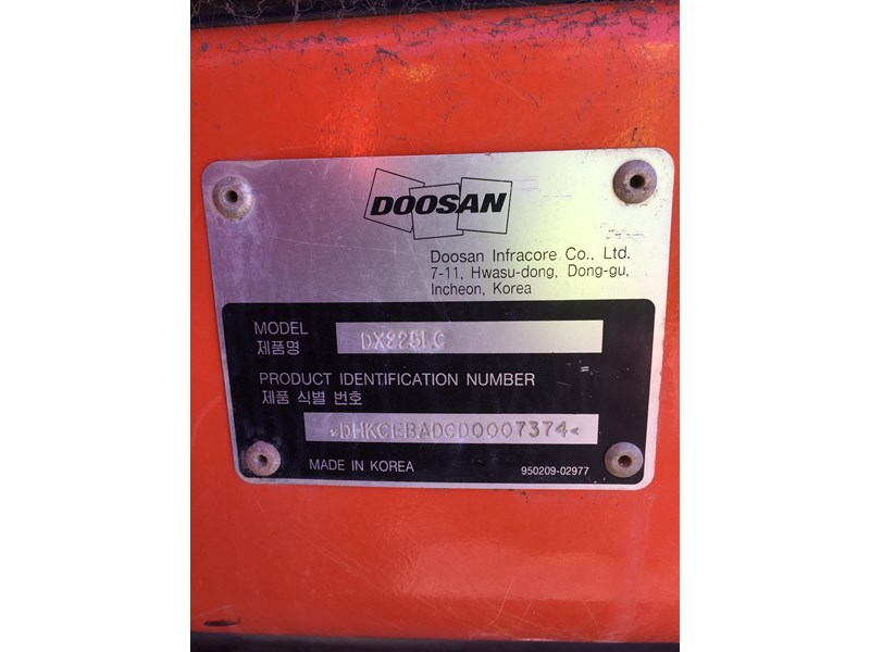 doosan dx225lc - excellent condition 654928 014