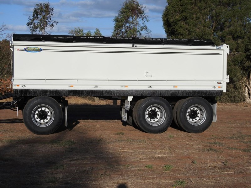 northstar transport equipment new 2019 north star tri axle tipping dog trailer 680566 002