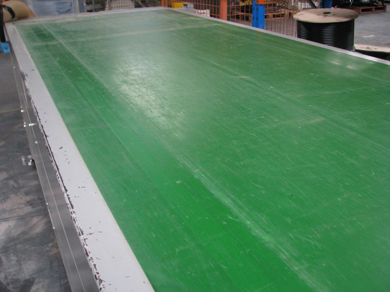 woodtron large cnc motorised belt conveyor sheet material feed and takeoff - 4m long 683900 002