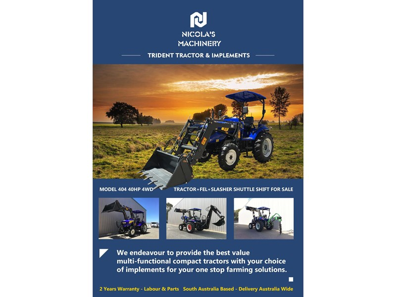 trident brand new 40hp tractor 4wd+fel+slasher shuttle shift 512366 088