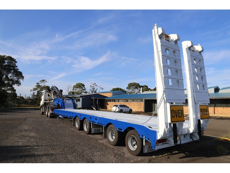 aaa quad axle low loader widener with bi-ford ramps 684540 003