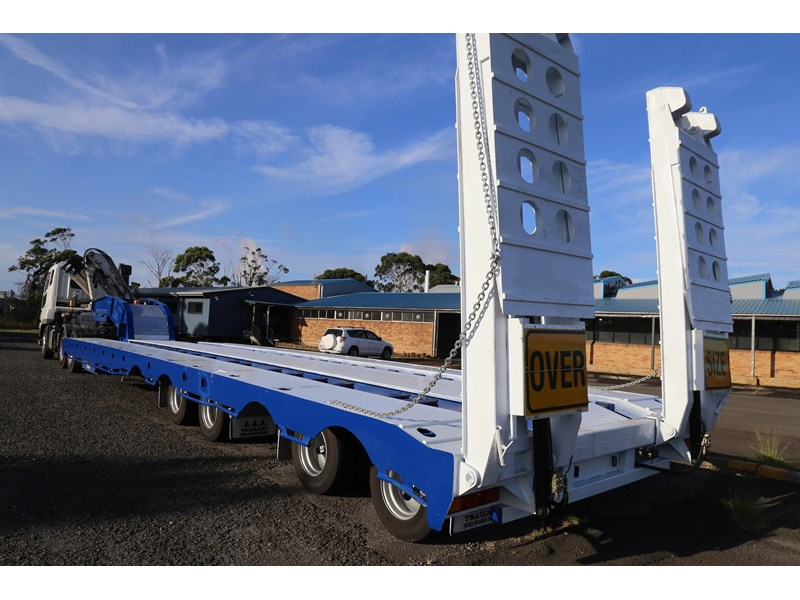 aaa quad axle low loader widener with bi-ford ramps 684540 005