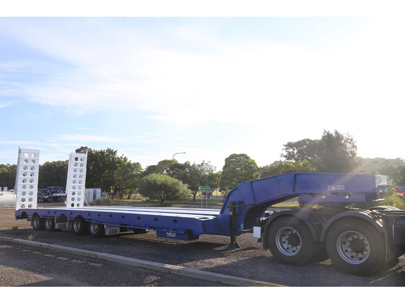 aaa quad axle low loader widener with bi-ford ramps 684540 009