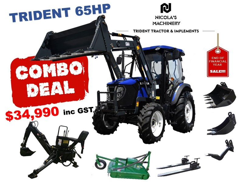 trident 65hp eofy combo deal (fel + backhoe + slasher +forks) 649853 001
