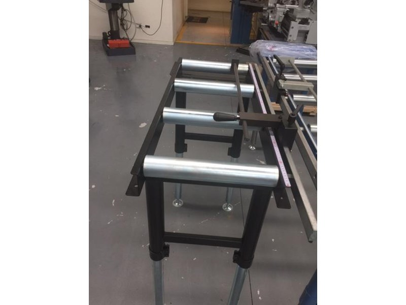 steelmaster calibrated length stop roller conveyor kit, 350mm x 1000mm linear measuring system & flip up length 701934 002