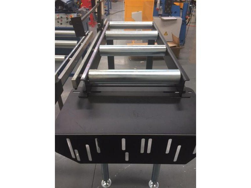 steelmaster calibrated length stop roller conveyor kit, 350mm x 1000mm linear measuring system & flip up length 701934 008