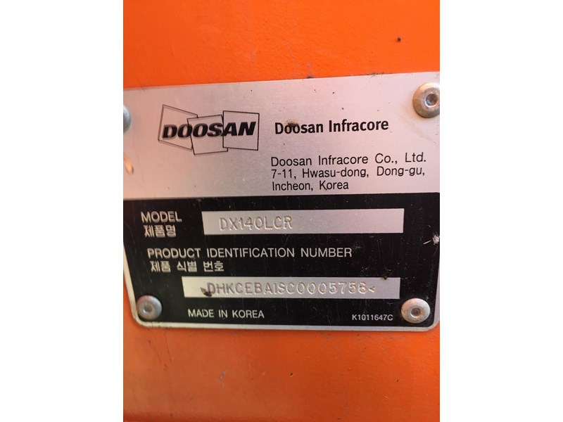 doosan dx140lcr - excellent condition - low hours! 703003 022