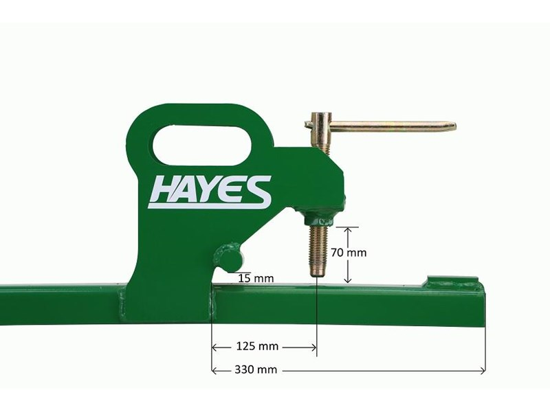 hayes tractor clamp on bucket forks 900kg - front end loader/bobcat tine 467970 003