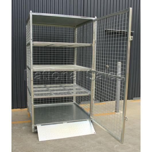 generic/unknown lockable shelves storage cage 712496 001