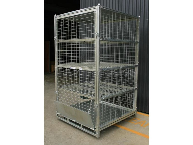 generic/unknown lockable shelves storage cage 712496 002