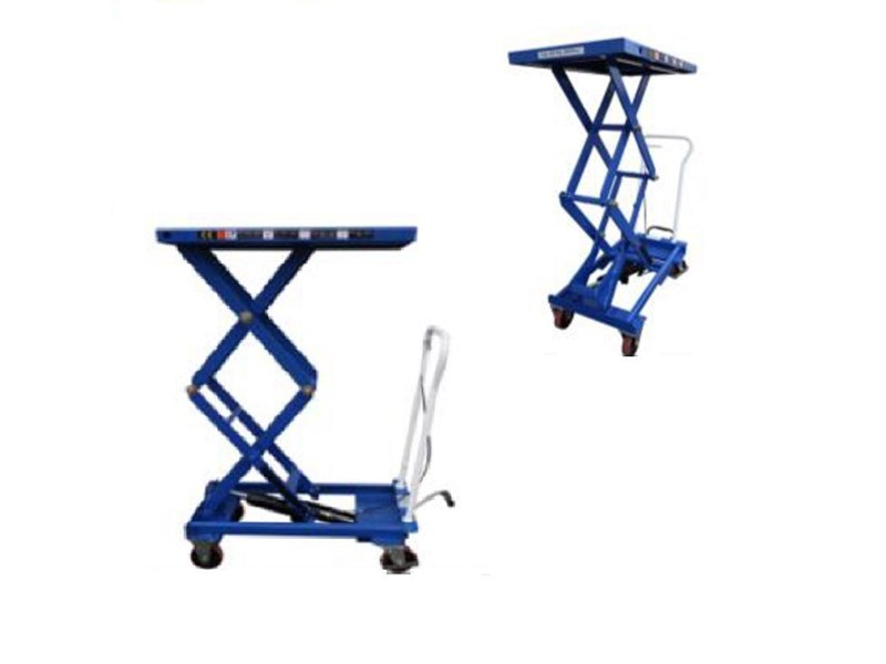 millers falls double scissor lift table cart 150 hand trolley lift up to 1585 mm 712673 001