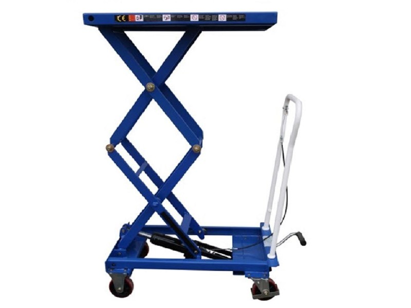 millers falls double scissor lift table cart 150 hand trolley lift up to 1585 mm 712673 003