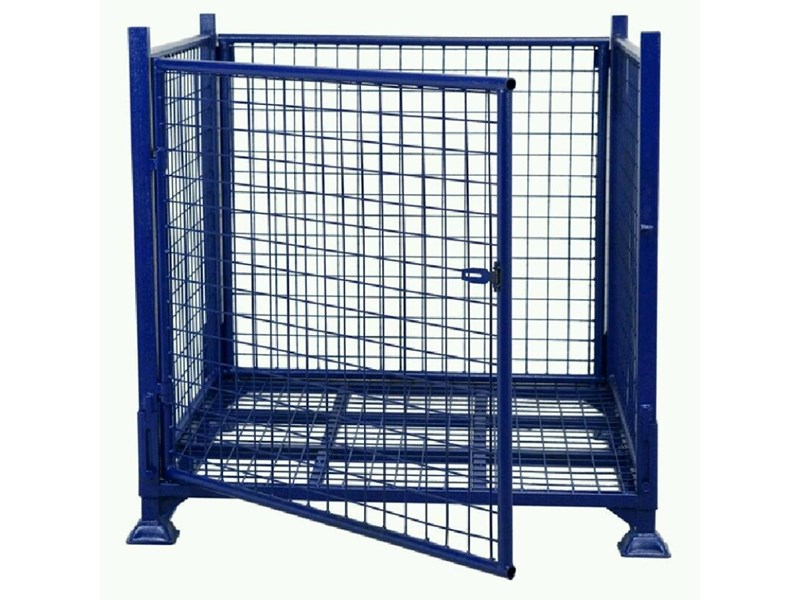 national sales stillage cage 1000kg swing door 713255 001