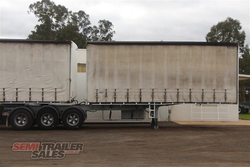 maxitrans 34 pallet drop deck curtainsider b double set with mezz decks 717983 002