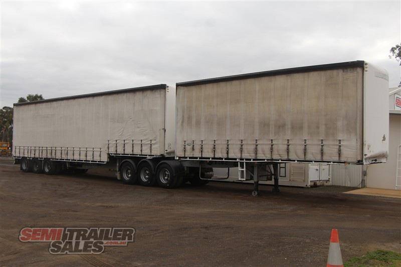 maxitrans 34 pallet drop deck curtainsider b double set with mezz decks 717983 004