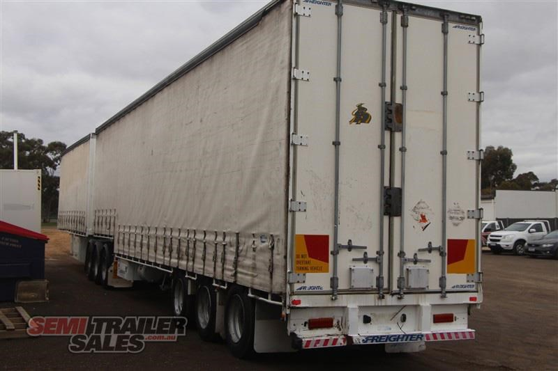 maxitrans 34 pallet drop deck curtainsider b double set with mezz decks 717983 016