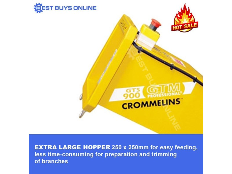crommelins portable wood chipper 9 hp robin subaru  gts900s 723034 004