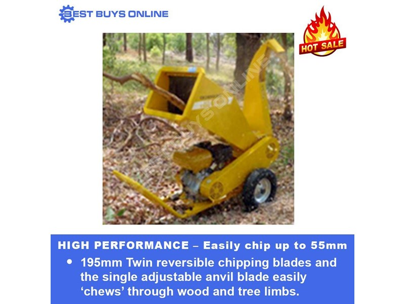 crommelins portable wood chipper 9 hp robin subaru  gts900s 723034 002
