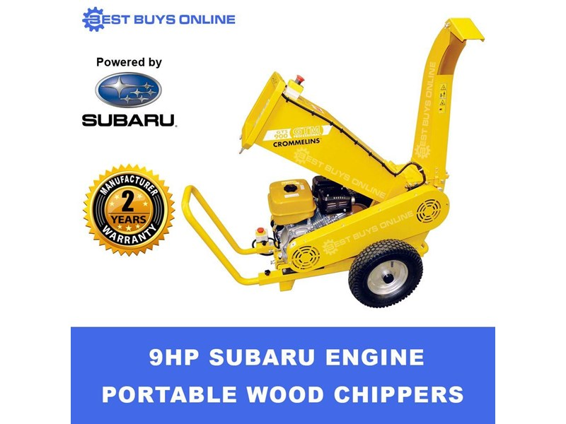 crommelins portable wood chipper 9 hp robin subaru  gts900s 723034 001