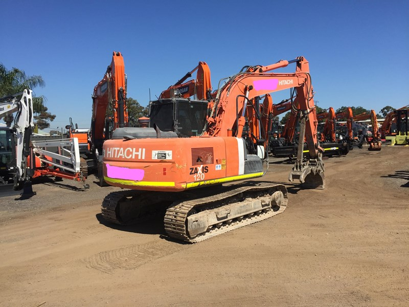 hitachi zx120 - low hours - grab - gp bucket 735919 002