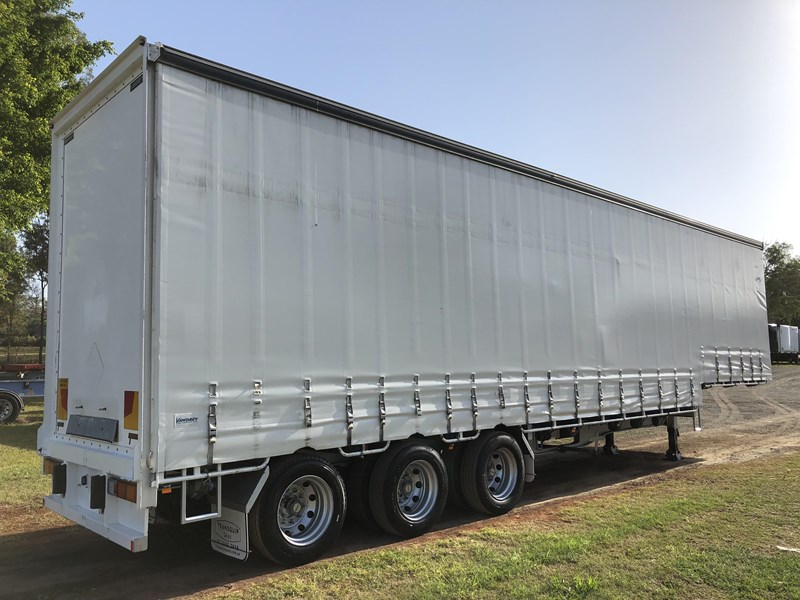 vawdrey 45ft tri-axle drop deck tautliner mezz floors 744806 002
