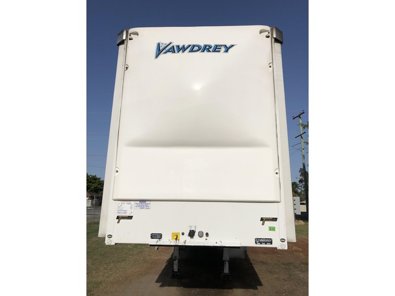 vawdrey 45ft tri-axle drop deck tautliner mezz floors 744806 006