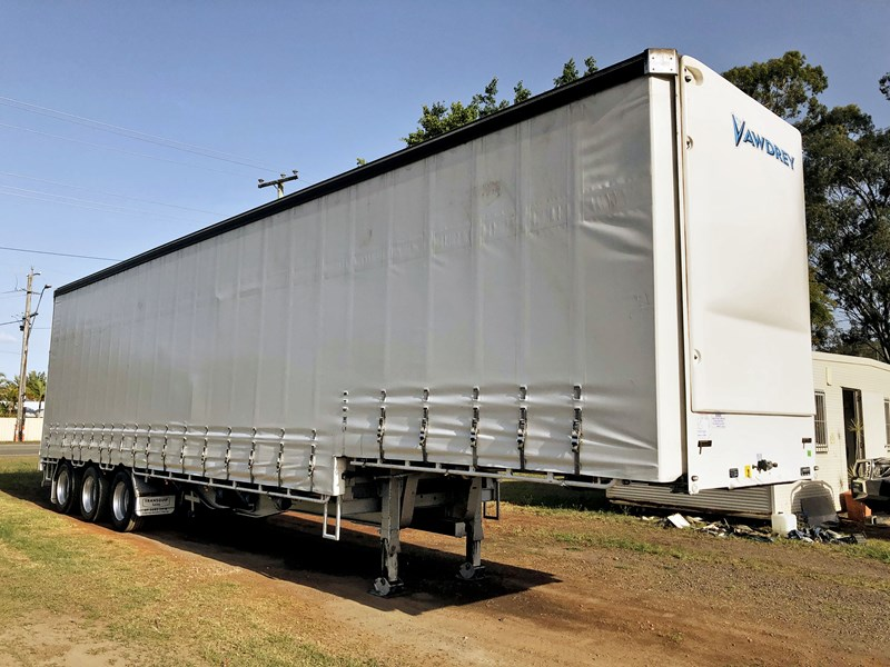 vawdrey 45ft tri-axle drop deck tautliner mezz floors 744806 001