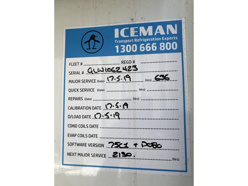 maxitrans b-double 34 pallet refrigerated tautliners 753378 025