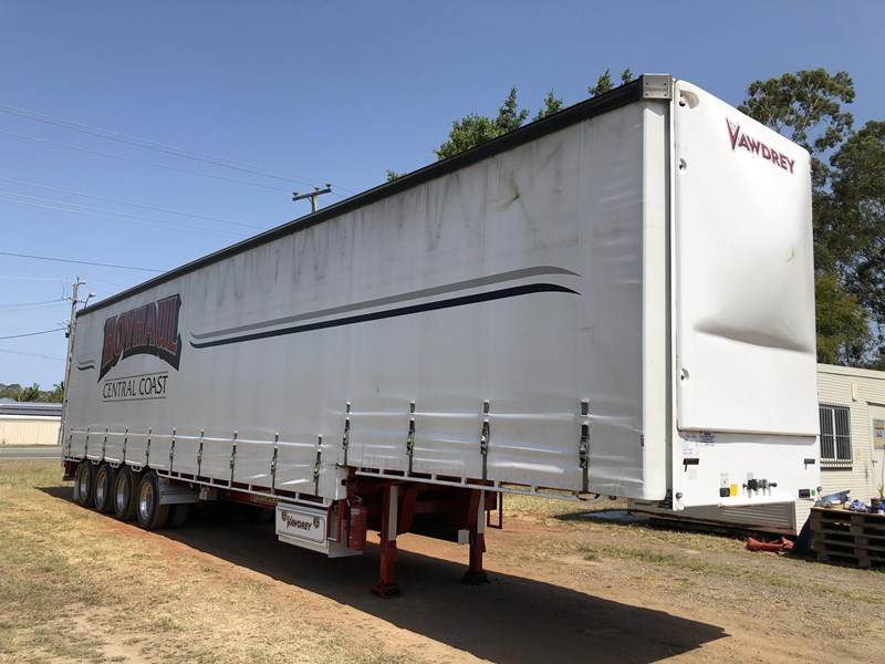 vawdrey 48ft drop deck quad axle curtainsider with mezz decks 754523 006