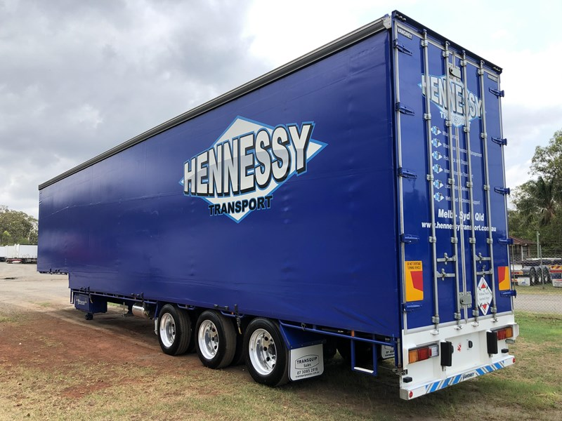 vawdrey 48ft drop deck curtainsider semi trailer with mezz decks 757274 004