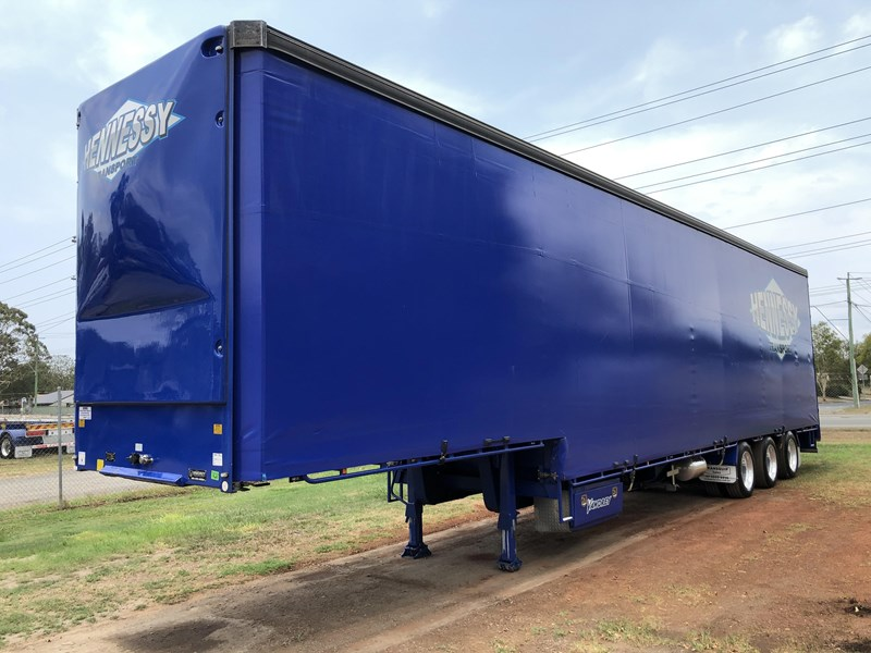 vawdrey 48ft drop deck curtainsider semi trailer with mezz decks 757274 005