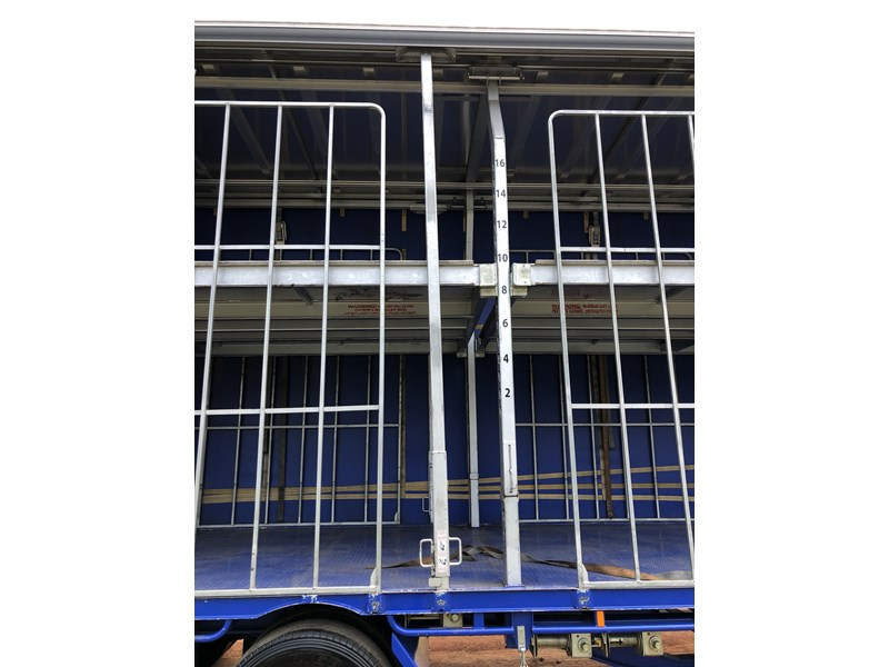 vawdrey 48ft drop deck curtainsider semi trailer with mezz decks 757274 029