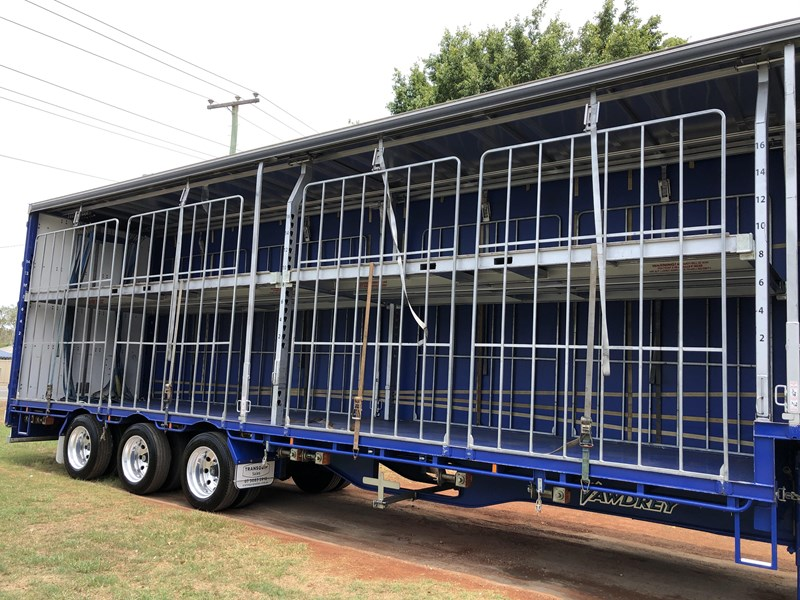 vawdrey 48ft drop deck curtainsider semi trailer with mezz decks 757274 031